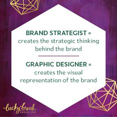 By engaging both a brand strategist + a graphic designer, your project should move more swiftly to completion with stronger results than you could yield on your own or when flying solo with a graphic designer.