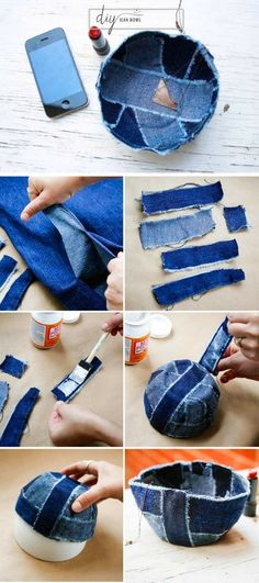 Check out the tutorial on how to make a DIY decorative denim bowl @istandarddesign