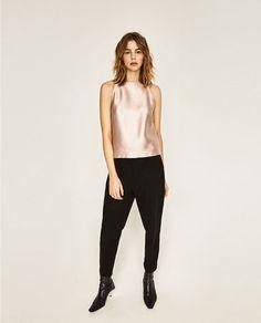 Image 1 of METALLIC HALTER NECK TOP from Zara