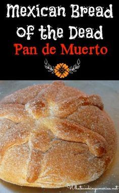 Mexican Bread of the Dead Recipe & History - Pan de Muerto | http://whatscookingamerica.net | #bread #dead #Mexican #pan #muerto
