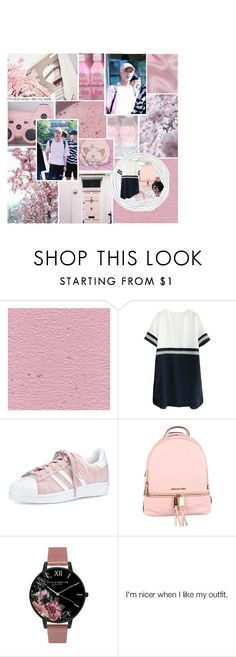 """Jin (BTS)"" by czanneeula on Polyvore featuring adidas, MICHAEL Michael Kors and Topshop"