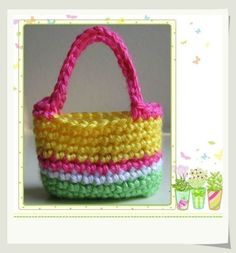 Pattern Crocheted doll purse for Blythe American by LilyKnitting, $3.99