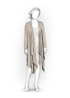 5867 PDF Cardigan Sewing Pattern  Women Clothes by TipTopFit
