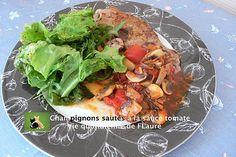 La meilleure recette de Champignons sautés à la sauce tomate! L'essayer, c'est l'adopter! 5.0/5 (1 vote), 0 Commentaires. Ingrédients: 800 g champignons de Paris (brut) 1 boite 4/4 tomates pelées (476 g poids net égoutté) 1 oignon jaune 3 gousses d'ail pressées 1 CS persil sec 1 CS huile olive Sel, poivre