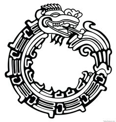 So I seen this anime called Full Metal Alchemist, and I saw the symbol of the ouroboros. I did some research and I found the Mayan version of the snake/. Tribal Tattoos, Tattoos, Art Tattoo, Tribal Tattoo Designs, Mayan Symbols, Ouroboros Tattoo, Aztec Tribal Tattoos, Aztec Tattoo Designs, Tattoo Designs