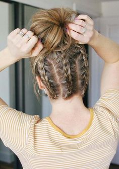 Braids are one of those hairstyles which you can use to sport for any special occasion. As you can visit here to see the beautiful ideas of triple dutch braids with unique styles of messy bun. We have compiled these styles for all those ladies who love to wear best braids in every new season. Visit here for this style.