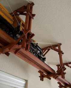 how to build a ceiling mounted train