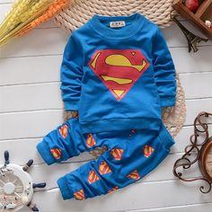Set for Boys Cartoon T-shirt + Pants Long Sleeve