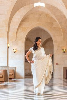 A beautiful Dubai bride, dressed in her Indian wedding attire for her multi-cultural wedding at The Palace Hotel. Read more here: http://brideclubme.com/articles/a-vibrant-multi-event-destination-wedding-in-dubai-by-lavender-blue/