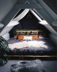 """HOME Keeping it Neutral - """"Attic Bed"""" by Saralouisa Take Smart Steps When Remodeling Your Home Every Bohemian Bedroom Decor, Home Decor Bedroom, Bedroom Setup, Bedroom Ideas, Design Bedroom, Bedroom Interiors, Bedroom Curtains, Bohemian Interior, Home Decor Ideas"""