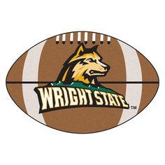 Fanmats Wright State University Nylon Football Mat