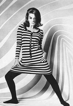 4. 1960s Black & White Op Art Fashion