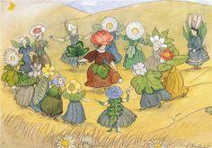 Ernst Kreidolf was a Swiss artist, who made picture books for children . Elsa Beskow was a Swedish artist, who . Elsa Beskow, Vintage Book Art, Kobold, Vintage Fairies, Fairytale Art, Design Graphique, Flower Fairies, Arte Pop, Fairy Art