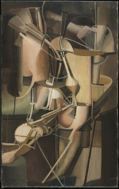 """Mariée"" (""The Bride""; 1912), by Marcel Duchamp. Oil on canvas; Dada; Philadelphia Museum of Art."