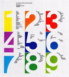 Another renown graphic designer, Armin Hofmann, famous for his Swiss-Style posters with their beautiful utilization of typograp. Layout Design, Print Design, Contents Page Design, Armin Hofmann, Number Graphic, International Typographic Style, International Style, Design Visual, Swiss Style