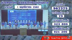 Thailand Lottery live results 01 November 2019 Saudi Arabia on TV