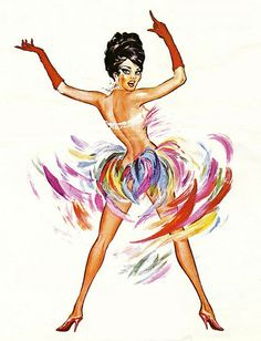 Casino De Paris showgirl at the Dunes Hotel & Casino, vintage Las Vegas promo poster, 1965.