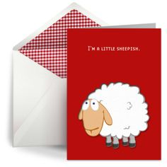 A free belated birthday card for when you feel a little sheepish.