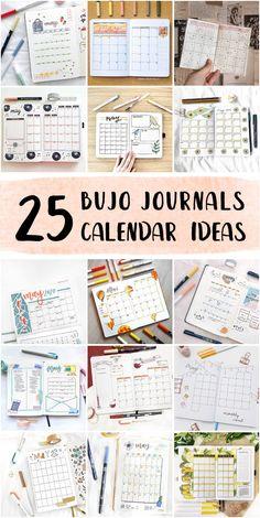 Vintage Bullet Journal Monthly Calendar Doodles For High School Students - Bullet Journal Monthly #templatebulletjournal #plannerbulletjournal #dailyspreadbulletjournal