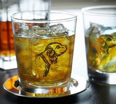Ken Fulk Retriever Double Old-Fashioned Glass, Set of 2 | Pottery Barn