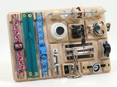 BUSY BOARD Toddler Preschool Toy Montessori Materials Games
