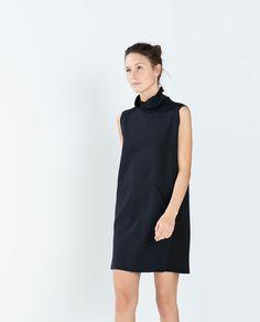 ZARA - WOMAN - TECHNICAL FABRIC POLONECK DRESS