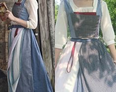 Child Blue Peasant Dress Costume Cosplay Inspired by Live