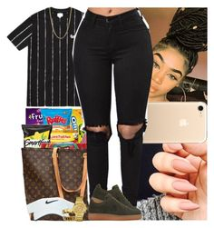 """""""Untitled #718"""" by msixo ❤ liked on Polyvore featuring Bianca Pratt, Louis Vuitton, Nike air force, Nike Golf and GUESS"""