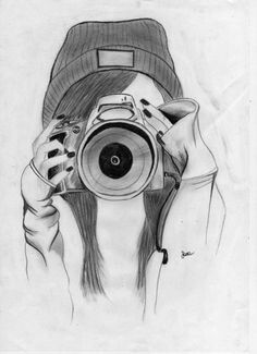 Ideas Design Sketch Pencil For 2019 Cool Drawings Tumblr, Unique Drawings, Easy Drawings, Tumblr Art, Pencil Art Drawings, Art Drawings Sketches, Girl Sketch, Painting & Drawing, Painting Art
