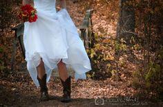 cowboy boots under the dress!