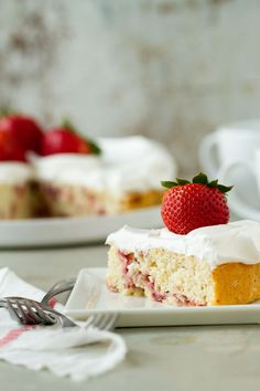 Lemon Strawberry Shortcake | My Baking Addiction