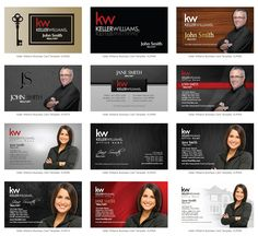 Keller Williams Business Cards Keller Williams Business Card - Real estate business cards templates free