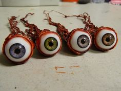 Halloween Prop - Realistic Human Ripped Out Eyeball - 4 colors to choose from by deadheadprops on Etsy https://www.etsy.com/listing/191638514/halloween-prop-realistic-human-ripped