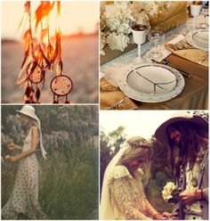 1960's - 1970's inspiration for a bohemian / hippie wedding day