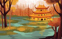 samurai jack background art - Google Search