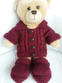 Teddy aran jacket and ugg boots – Free knitting and crochet patterns Crochet Dolls Free Patterns, Doll Patterns, Knitting Patterns, Bear Patterns, Free Knitting, Knitting Ideas, Kids Knitting, Knitting Socks, Knitting Projects