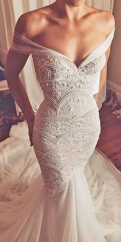 21 Romantic Off The Shoulder Wedding Dresses ❤️ See more: http://www.weddingforward.com/off-the-shoulder-wedding-dresses/ #wedding #offshoulder #dresses