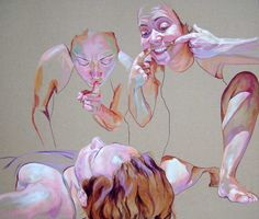 Art Portal - Amazing Contemporary Fine Art Who: I like the colours she uses and the facial expressions. I like how the emotions are also brought through the skin.