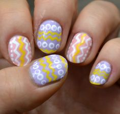 Easter themed nail art via @beautybymissl