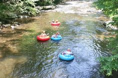 Tubing the famous Deep Creek recreation area in The Great Smoky Mountain National Park near Bryson City, NC. Camping World, Go Camping, Scout Camping, Camping Ideas, Nc Mountains, Great Smoky Mountains, North Carolina Cabins, Bryson City