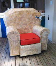 zefi's blog: recycled milk bottle armchair - alternative furniture