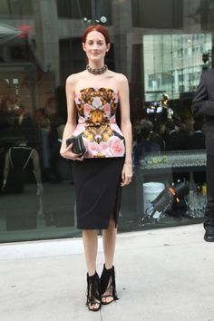 TTH @ the CFDAs in Josh Goot corset, Altuzarra skirt, Ferragamo clutch, Wang shoes
