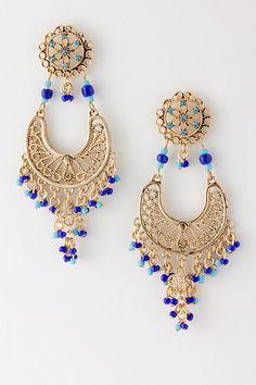 Azure Boho Chandelier Earrings