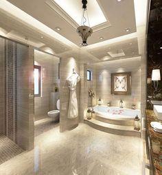 Modern Luxury Kitchens For A Grand Kitchen Bathroom Design Luxury, Modern Bathroom, Home Interior Design, Dream Bathrooms, Beautiful Bathrooms, Luxury Bathrooms, Mansion Bathrooms, Bathroom Layout, Design Case
