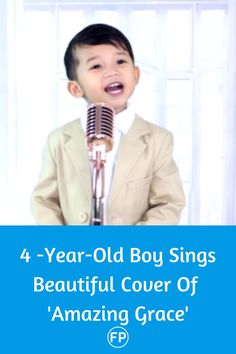 This little boy singing Amazing Grace is a message of hope and love of God to each and every one of us.