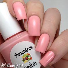 "Peachtree Polish ""Camellia"" -  soft peach cream #nail polish / lacquer / vernis, swatch / manicure"