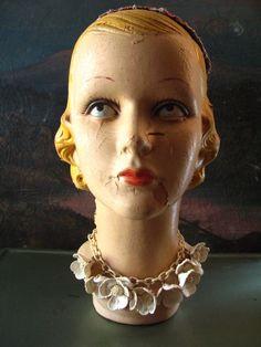 1920's mannequin head.