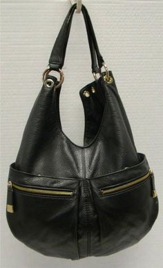 Michael kors womens large black pebbled leather hobo shoulder handbag purse b820250b91214