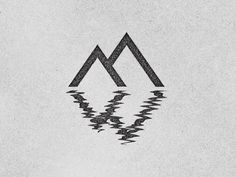 love this reflection interpretation...could be cool for baptism tshirts!//OUR WILD WAYS — visualvibs: Mountain West by Alex Rinker ...