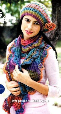 I'm thinking I could do crochet ribbing on this one instead of knit.   Love the yarn